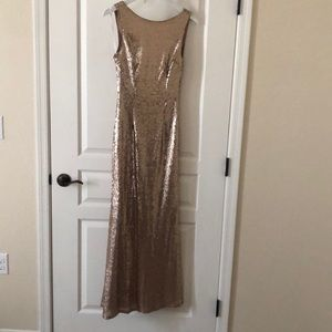 Lulus rose gold sequence dress